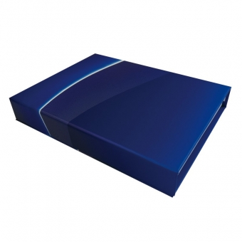 Blue magnetic packaging box with eva foam