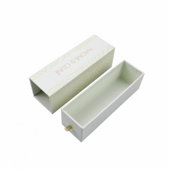 Delicate custom design skin-care box with a drawer