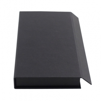 Black small magnetic flip top box