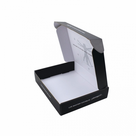 Black full-page printing transportation packaging postal mailing boxes