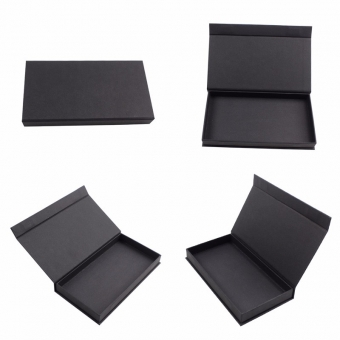 Small Rectangle Black Packing Box Magnetic Lid