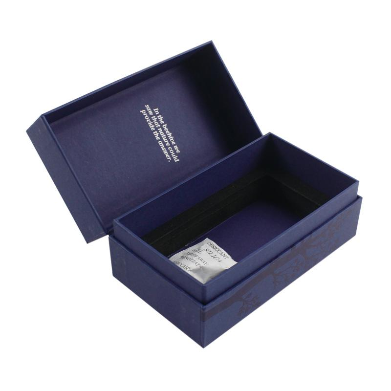 Blue card black card hot stamping clamshell box