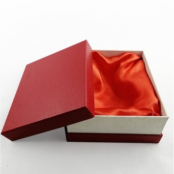 Huge square red gift box attached satin fabric with lids