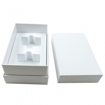 Custom sturdy enough plain white box and shaped EVA with lid