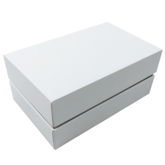 Rectangle shape white color without printing gift boxes with lids