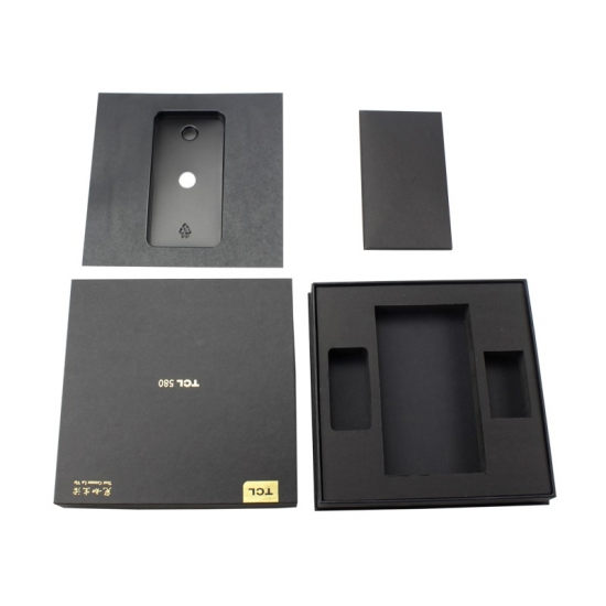 Custom logo large paper cardboard cellphone boxes with lids